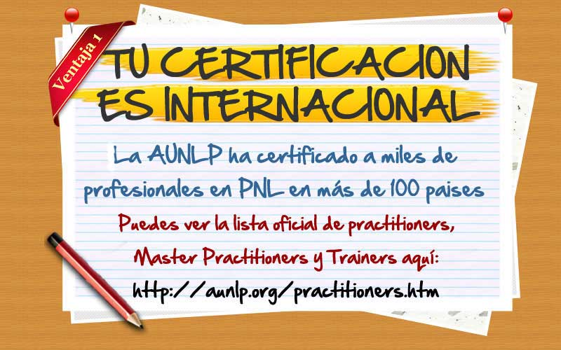 Certificación Internacional de nuestro practitioner en PNL online