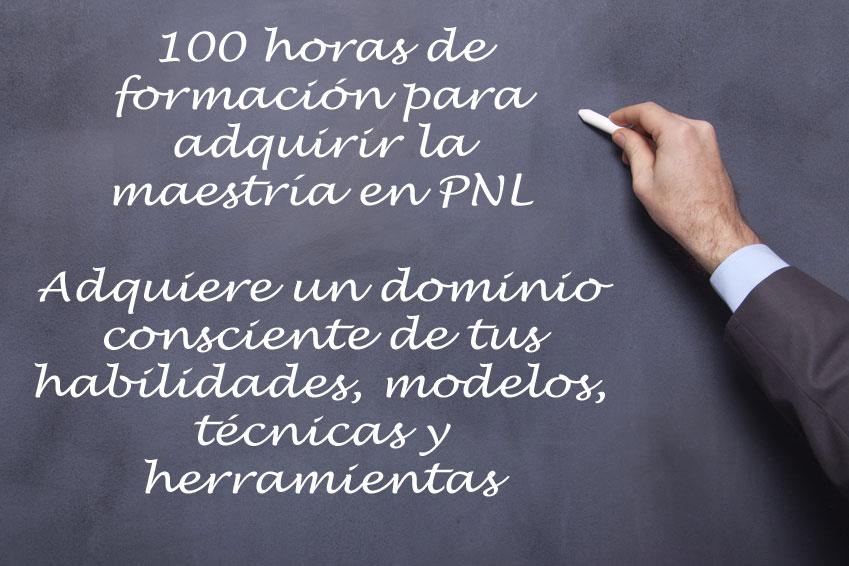 100 horas de formación en Master en PNL