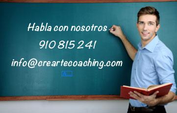 Habla con nosotros - 910 815 241- info@creartecoaching.com